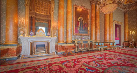 Buckingham Palace - The Blue Drawing Room by Will Pearson