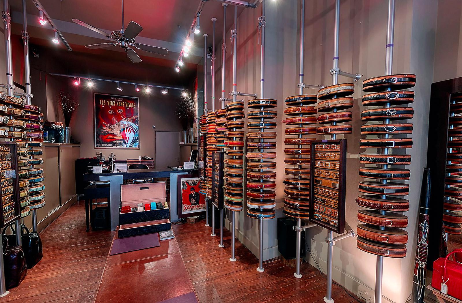 Retail Virtual Tour Of Elliot Rhodes  Belt Designers