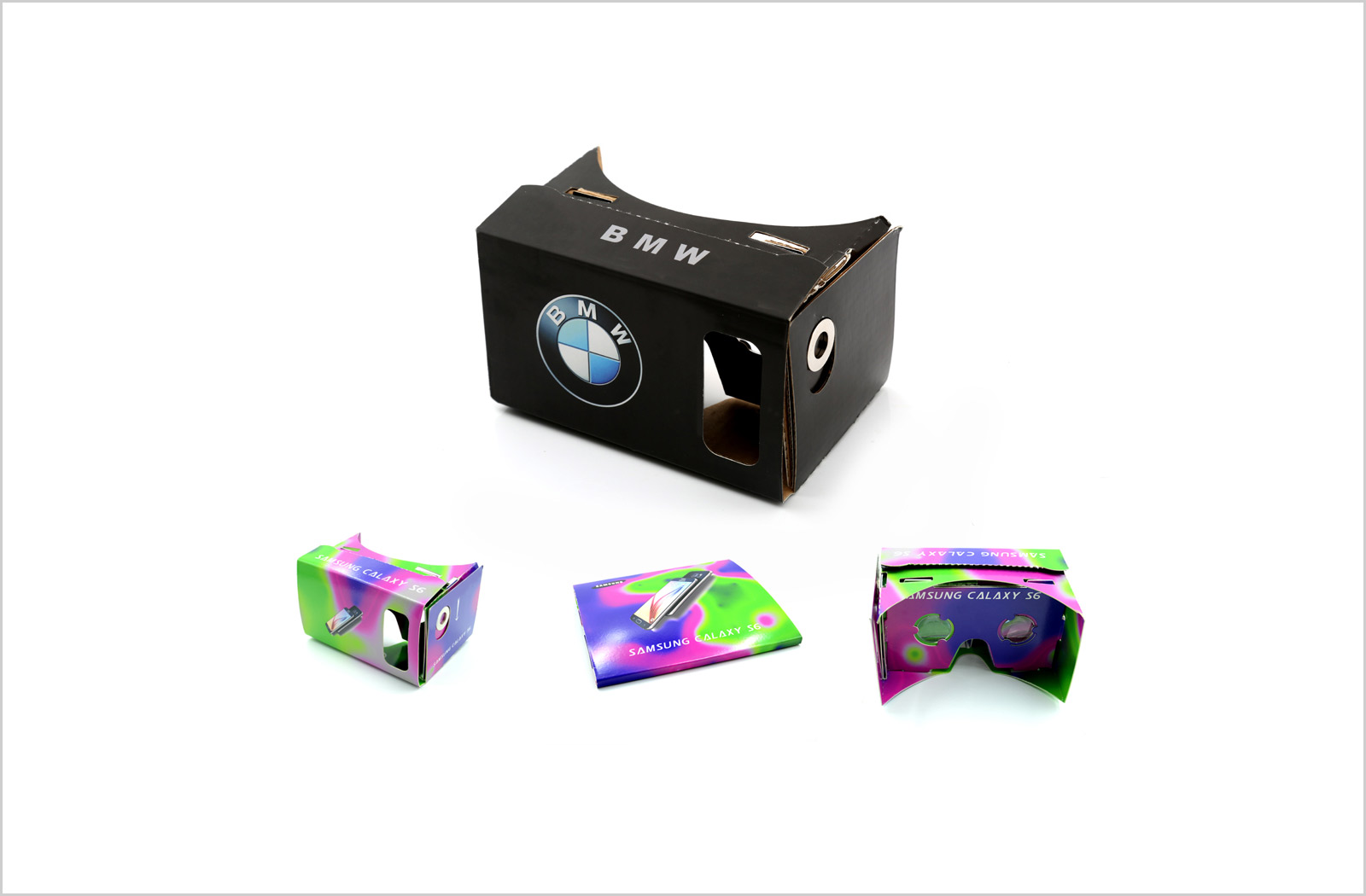 Branded google cardboard vr headset eyerevolution