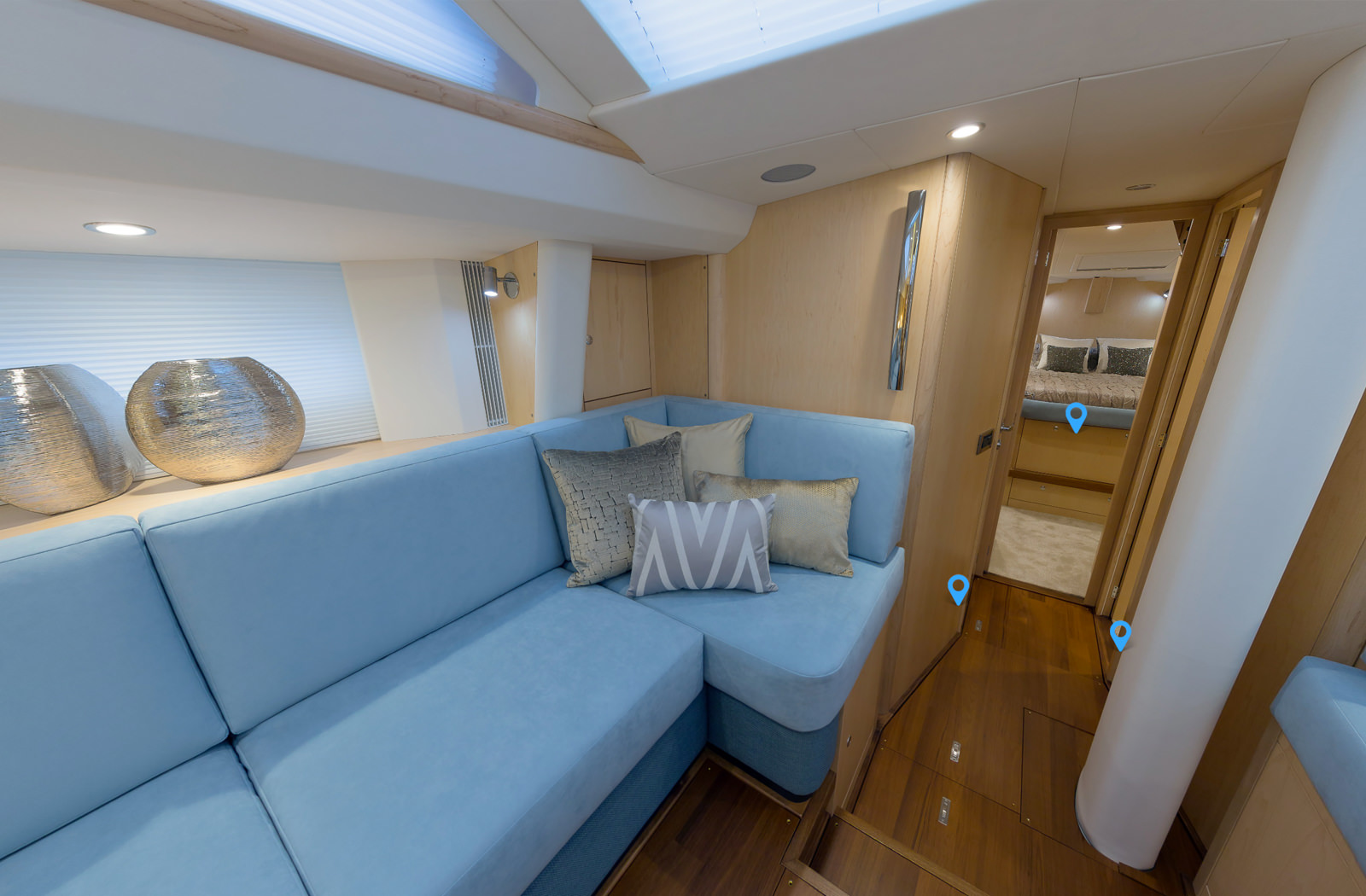 Oyster 545 yacht 360 photography