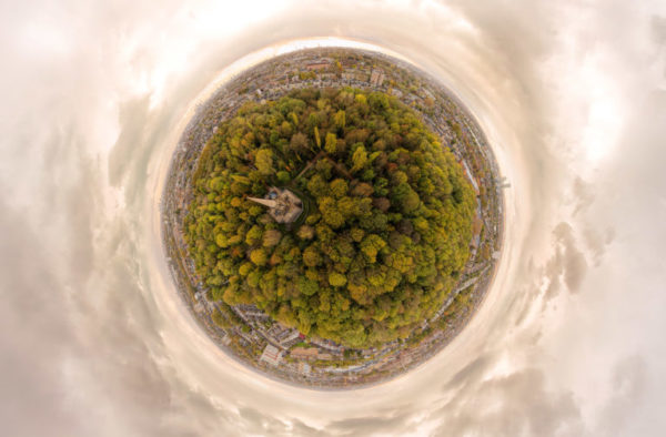 Drone 360 over Abney Cemetery, Stoke Newington by Eye Revolution London