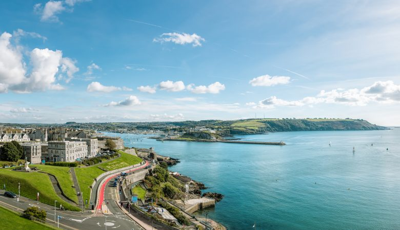 Aerial virtual tour taken from the top of Smeaton's Tower, Plymouth, UK