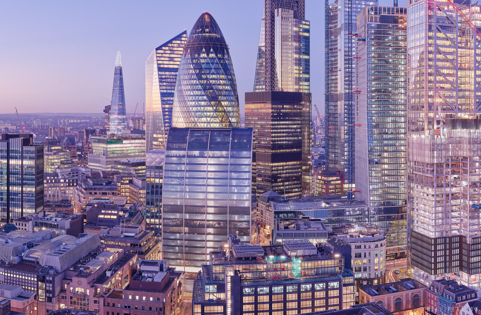 London Skyline: Enhanced Gigapixel