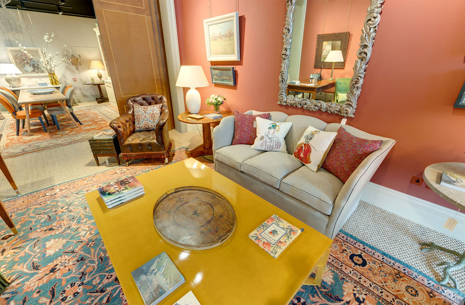Interior design virtual tour - still from the Sibyl Colefax & John Fowler showroom