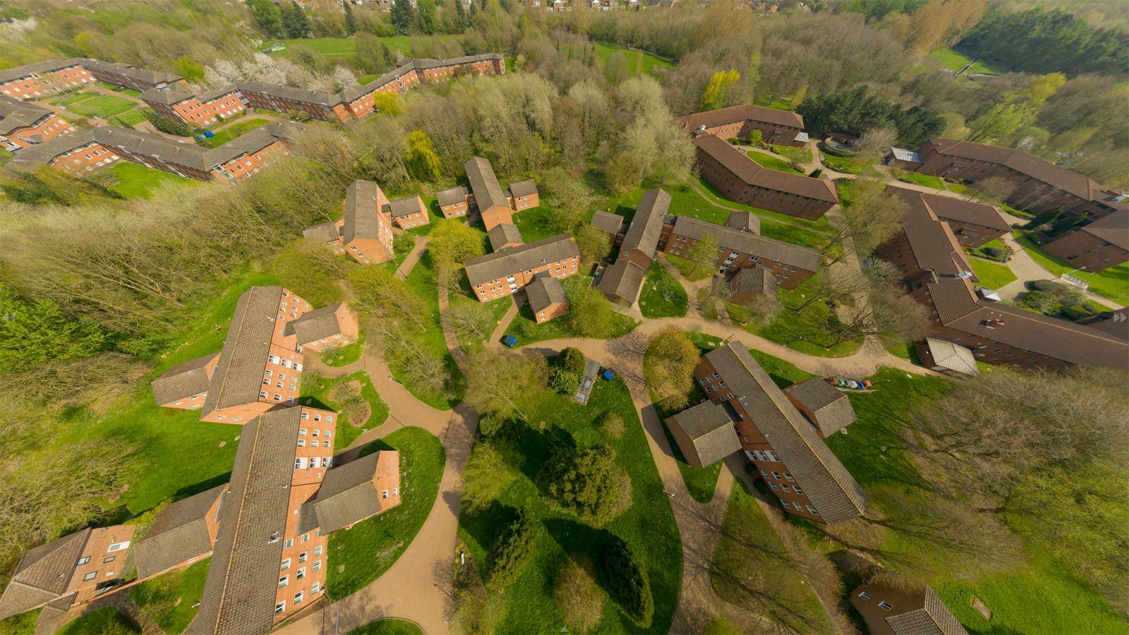 Still taken from the aerial virtual Tour at the University of Warwick