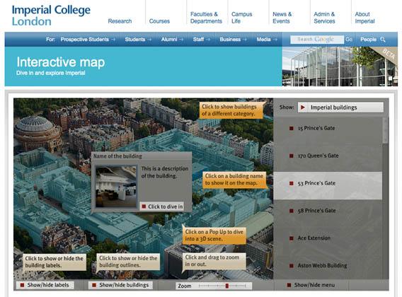 Imerial College Interactive Map Beta