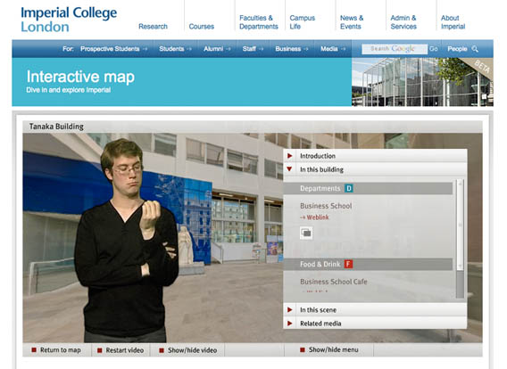 Imperial College Map and Video Tour