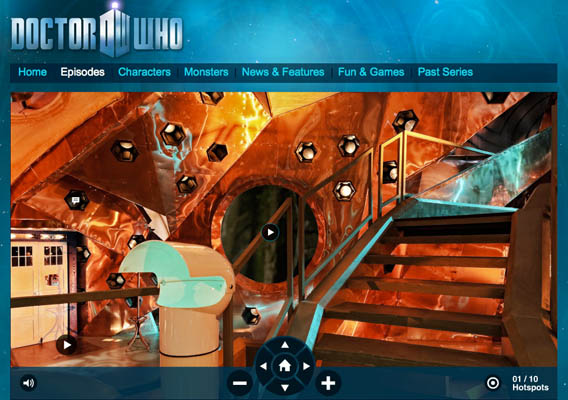 Doctor Who Tardis Virtual Tour - Photography by Will Pearson 2010
